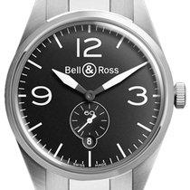 Bell & Ross BR 123 Vintage BRV 123 Original Black Bracelet