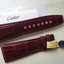 Cartier New Ladies Divan  Watch Strap Band Bordeaux  Alligator