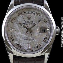 Rolex 18206 Platinum Day Date President Meteorite Dial