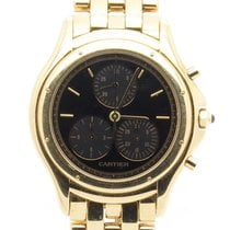 Cartier Couger Chronograph Ref 11261 Solid 18k Yellow Gold...