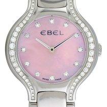 Ebel Beluga 1215858 Steel & Diamond Womens Watch Pink MOP...