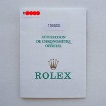"Rolex Libretto / Booklet Daytona  116520 ""K"""