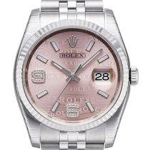 Rolex Datejust 36 mm Stahl/Weißgold 116234 Pink