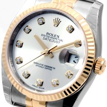 Rolex 18K/SS Mens Datejust Factory Diamond 116233 Unworn
