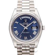 Rolex Day-Date Blue 18k White Gold 40mm President - 228239