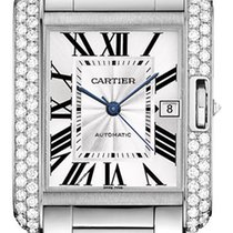 Cartier Tank Anglaise LARGE 18kt White Gold AUTHENTIC wt100010