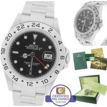 롤렉스 (Rolex) Explorer II 16570 T Z 3186 Black Date GMT 40mm Watch