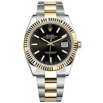Rolex Datejust II Steel and Yellow Gold Black Stick Dial 41mm