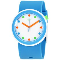 Σουότς (Swatch) New Pop Poppingpop White Dial Silicone Strap...