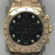 勞力士 (Rolex) 116528 18k YG Daytona with Black Diamond Dial...