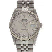 Rolex Oyster Perpetual Datejust SS/18K WG/Diamond 16234G