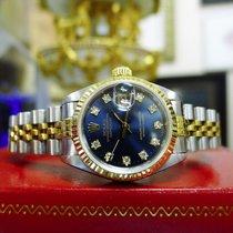 Rolex Datejust Ref: 69173 Yellow Gold Steel Diamond Dial Watch...