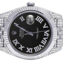 Rolex Datejust II 126334 41MM Black Dial Steel Jubilee Diamond...