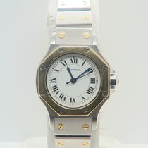 Cartier Santos Octagon Lady 18k Gold Steel Auto (Only Box)
