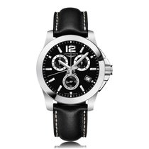 Longines Conquest Classic Chronograph Stainless Steel Quartz...