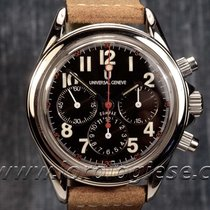 Universal Genève Compax Waterproof-style Steel Chronograph...