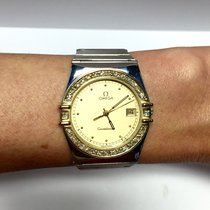 Omega Constellation 18k Yellow Gold & Ss Men's Watch...