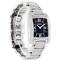 Ebel Brasilia Ladies Mini Black SS Swiss Quartz Watch 9976M22/...