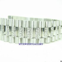 勞力士 (Rolex) Aftermarket 18k WG Diamond Bracelet Band for Mens...