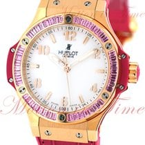"Hublot Big Bang 38mm Tutti Frutti ""Pink"", White Dial,..."