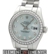Rolex Datejust President Platinum Diamond Bezel Glacier...
