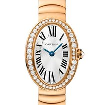 Cartier WB520026 Baignoire Mini - Diamond Bezel - Rose Gold on...
