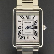 Cartier Tank Solo XL Stainless Steel Automatic Silver Roman...