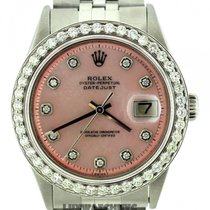 Rolex Datejust Men's 36mm Pink Mother Of Pearl Dial...