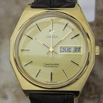 Omega Seamaster Gold Plated Rare Swiss Auto 36mm Vintage Mens...