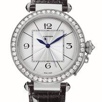 Cartier Pasha 18K White Gold & Diamonds Ladies Watch