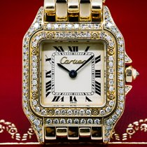 Cartier Ladies Mini Panthere 18K YG Diamond Case Quartz (26877)