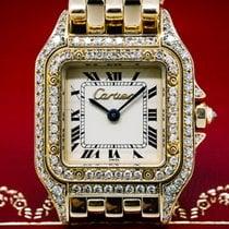 Cartier Ladies Mini Panthere 18K YG Diamond Case Quartz (26877)