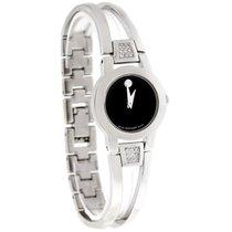 Movado Amorosa Diamond Ladies Black Dial Swiss Quartz Watch...