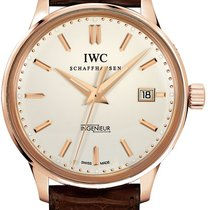 IWC 323303 Ingenieur Vintage in Rose Gold - on Brown Leather...