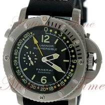 Panerai Luminor 1950 Submersible Depth Gauge, Black Dial,...
