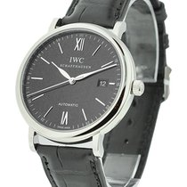 IWC 356502 Portofino Automatic 40mm in Steel - on Black...