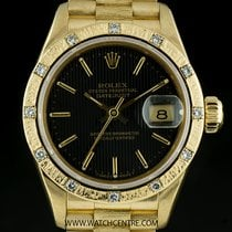 Rolex 18k Yellow Gold O/P Dia Bark Finish Bezel Datejust...