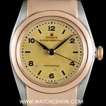 Ρολεξ (Rolex) S/S & Rose Gold Rare Hooded Lugs Bubbleback...
