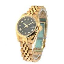 Rolex Unworn 179175_blk_arabic Rose Gold Ladys Datejust with...
