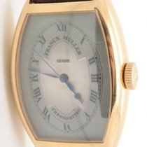 Franck Muller Chronometro Ref 5850 Solid 18k Rose Gold Silver...