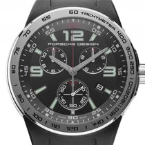 Porsche Design Flat Six P.6320 Stahl Quarz Chronograph Armband...