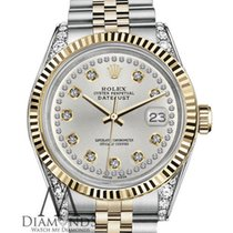 Rolex Woman's Rolex 26mm Datejust 2 Tone Silver Color...