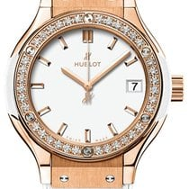 Hublot Classic Fusion Quartz King Gold White Diamonds 33mm