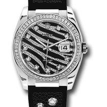 Rolex 116189 Datejust Royal Black 18K White Gold &...