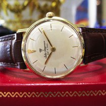 Mens Mid Size Vintage  Jules Jurgensen 14k Gold Dress Watch On...