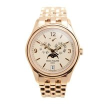 Patek Philippe Complications 18k Rose Gold White Automatic...