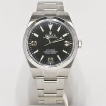 Rolex Explorer 214270 39mm Watch Black Face Box & Booklets...