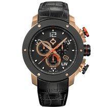 Liv Watches LIV GX1 Swiss Chrono Rose Gold + Deployant Buckle...