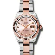 Rolex Datejust Ladies Midsize 178271-PNKDFO Pink Diamond Rose...