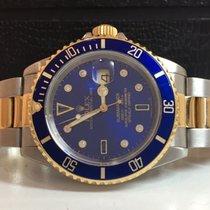 Rolex Submariner Ouro e Aço Mostrador de Diamantes Completo